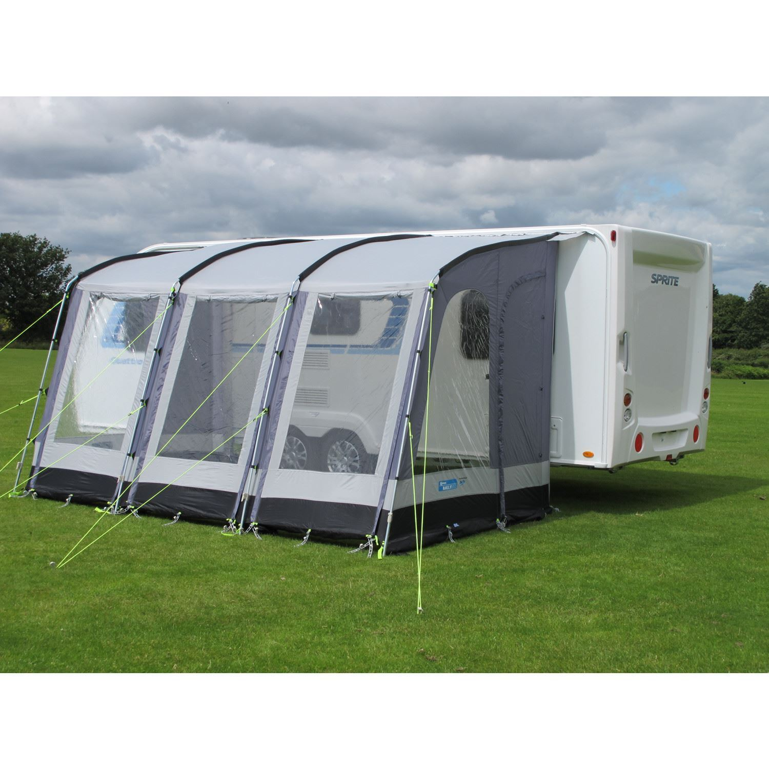 Kampa Rally 390 Caravan Porch Awning Pearl Grey 2017 Model