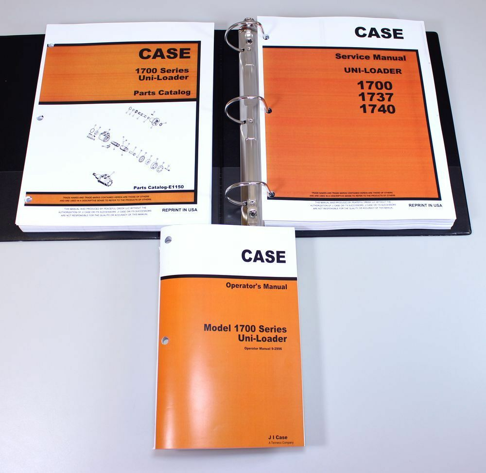 1 of 12FREE Shipping Case 1700 1737 1740 Uni Loader Skid Steer Service Parts  Operators Manual Catalog