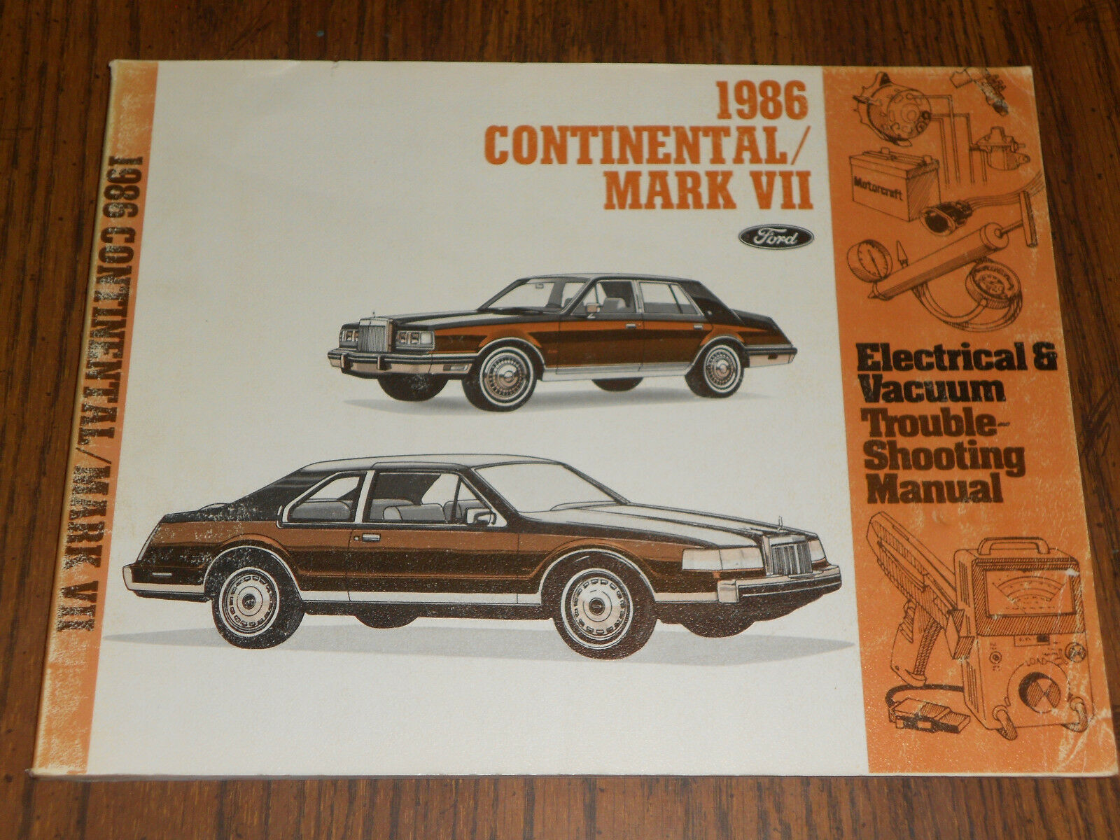 1986 Lincoln Continental / Mark Vii / Wiring & Vacuum Diagram Shop Manual