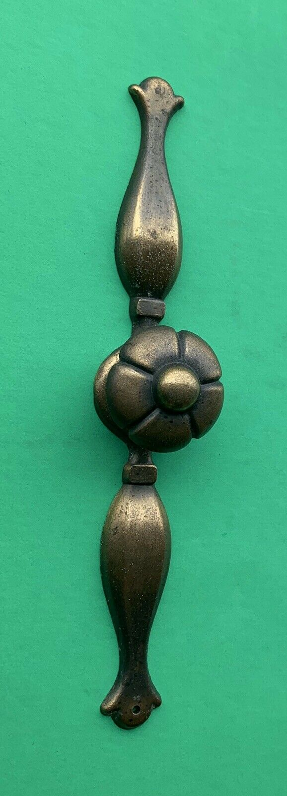 French Provincial Antique Hardware Vintage Drawer Pull Flower Knob Brass Cabinet