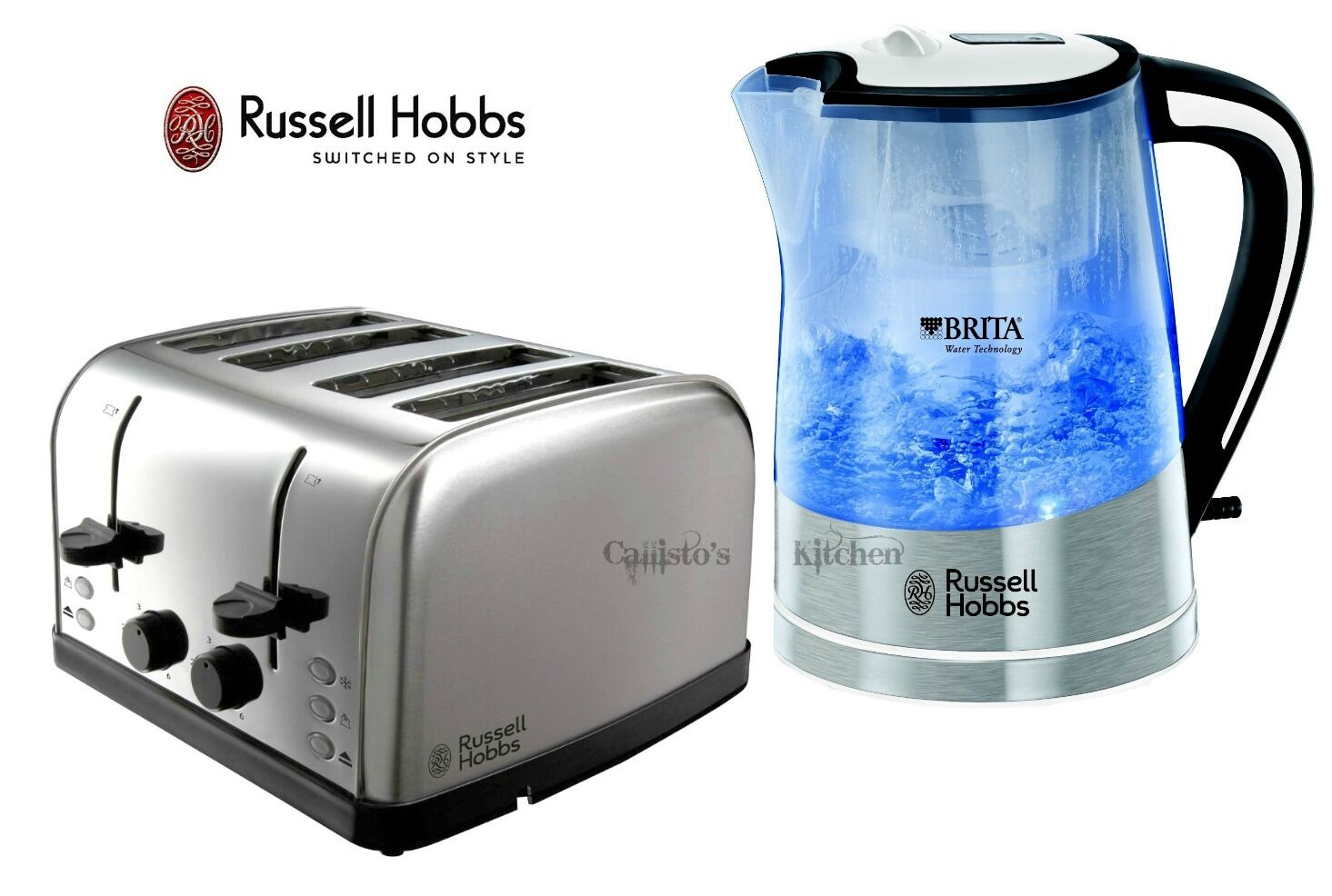 kettle and toaster set russell hobbs brita filter kettle and 4 slice toaster new. Black Bedroom Furniture Sets. Home Design Ideas