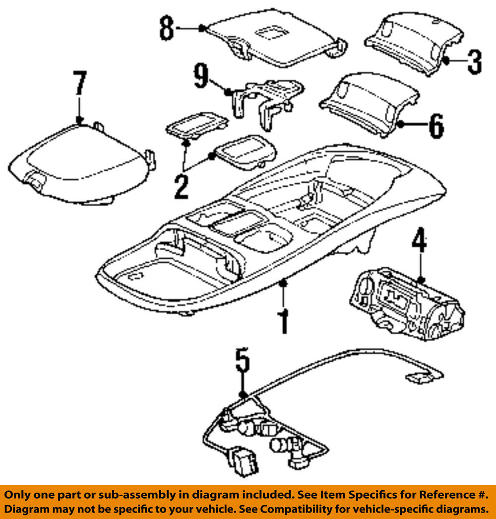 Dodge Chrysler Oem 99 02 Ram 3500 Overhead Roof Console Wire Harness Wiring Diagram 5013609aa 1 Of 1only 3 Available