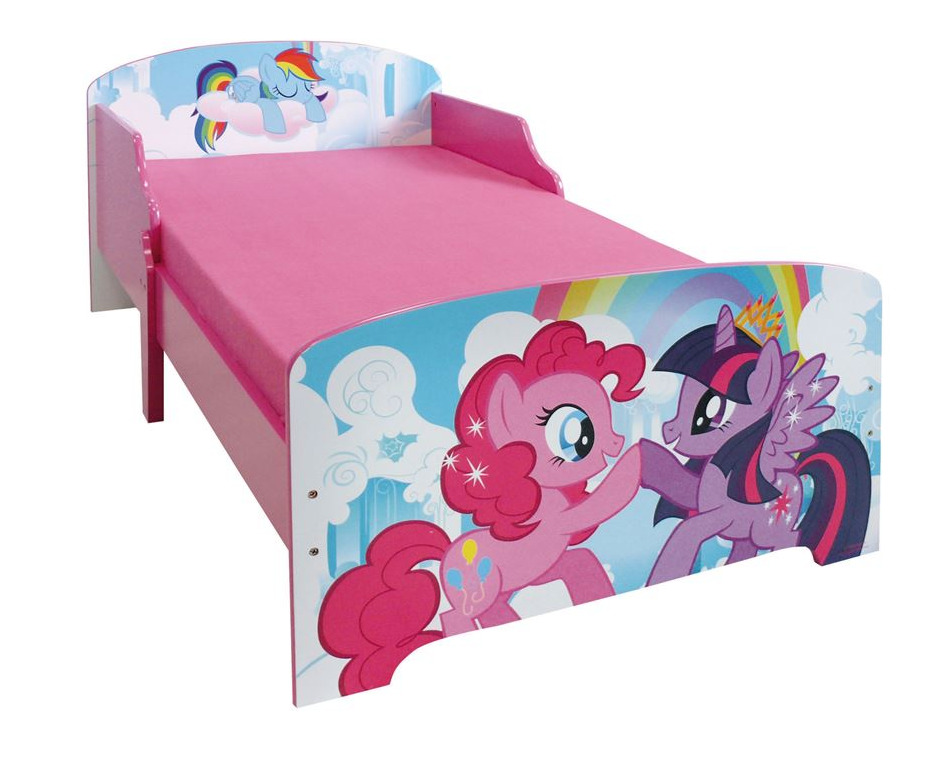My little pony toddler kids children wooden starter bed for Starter bed