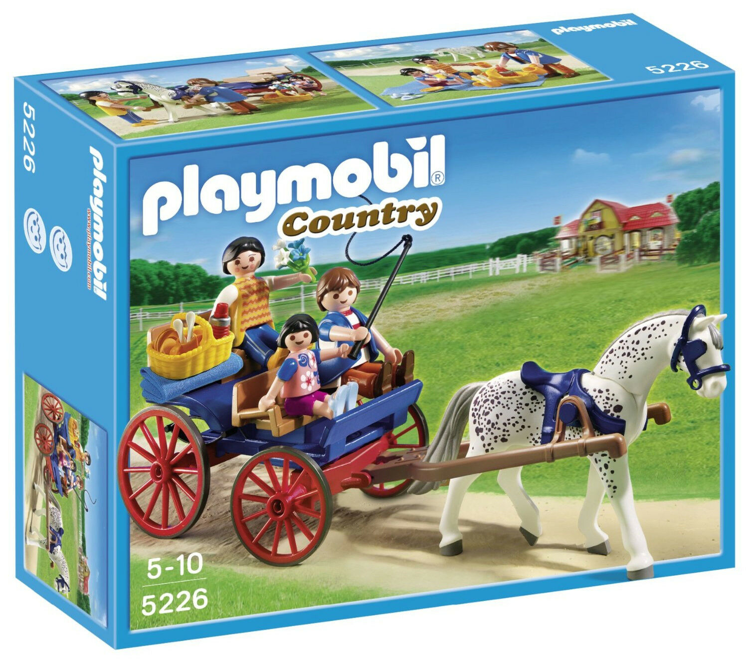 Playmobil 5226 country pony farm horse drawn carriage - Playmobil kutsche ...