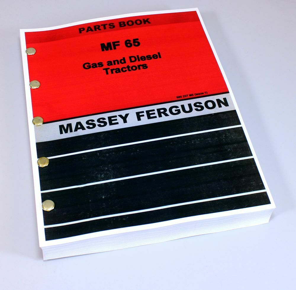 Massey Ferguson Mf 65 Tractor Parts Catalog Manual Book Exploded View 1 of  6FREE Shipping ...