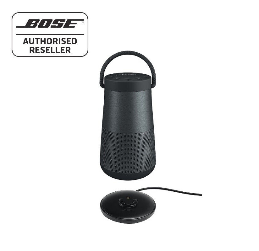 bose soundlink revolve bluetooth speaker 360 black with charging cradle aud. Black Bedroom Furniture Sets. Home Design Ideas