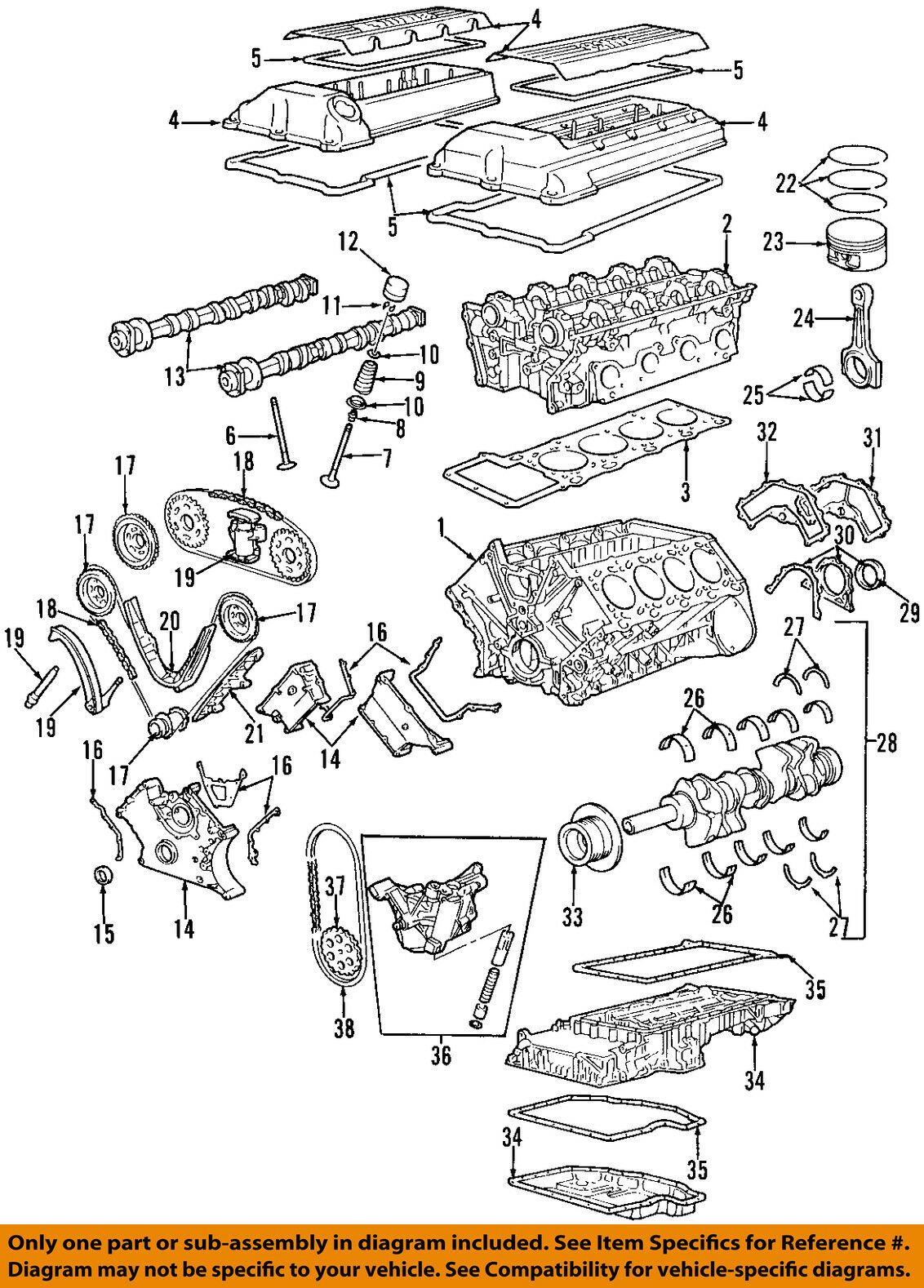 Bmw Oem 00 03 X5 Engine Timing Chain Guide 11311745406 5717 Diagram 1 Of 1only Available