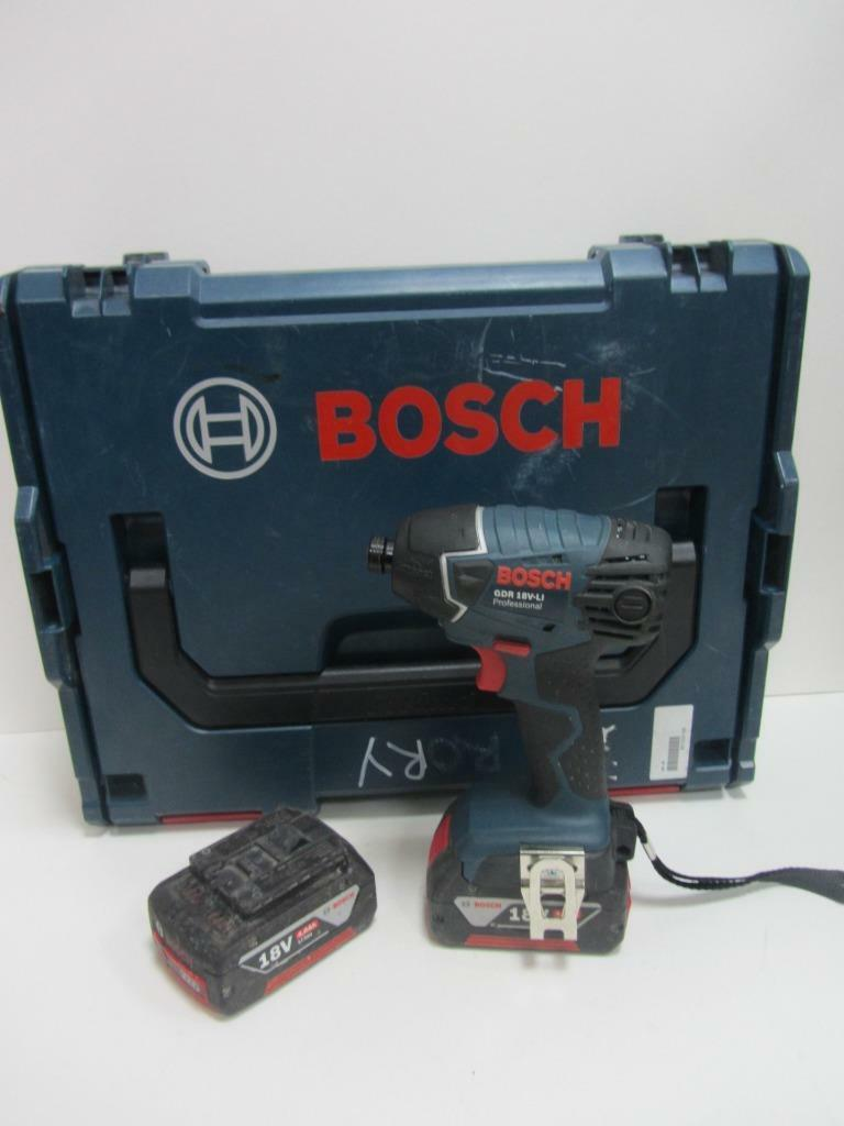 bosch gdr 18v li professional cordless impact drill driver w 2 x li batteries. Black Bedroom Furniture Sets. Home Design Ideas