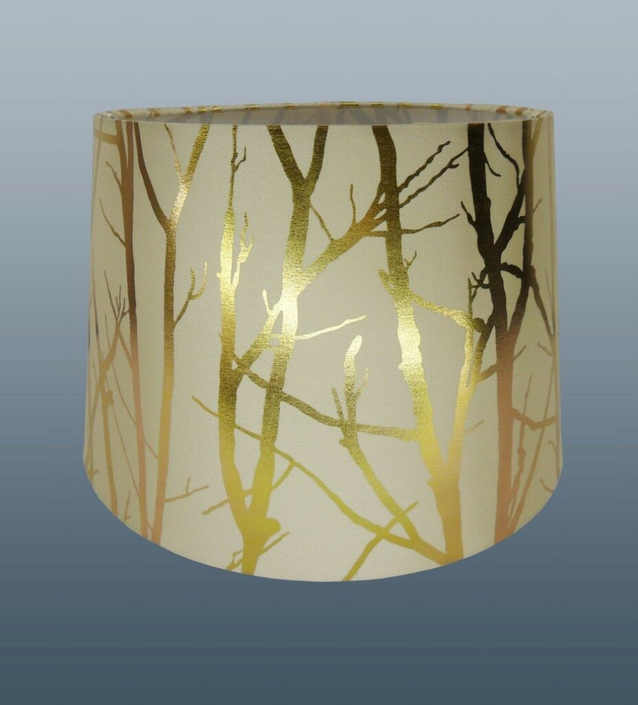 cream lampshade tree branch effect 11 empire drum ceiling