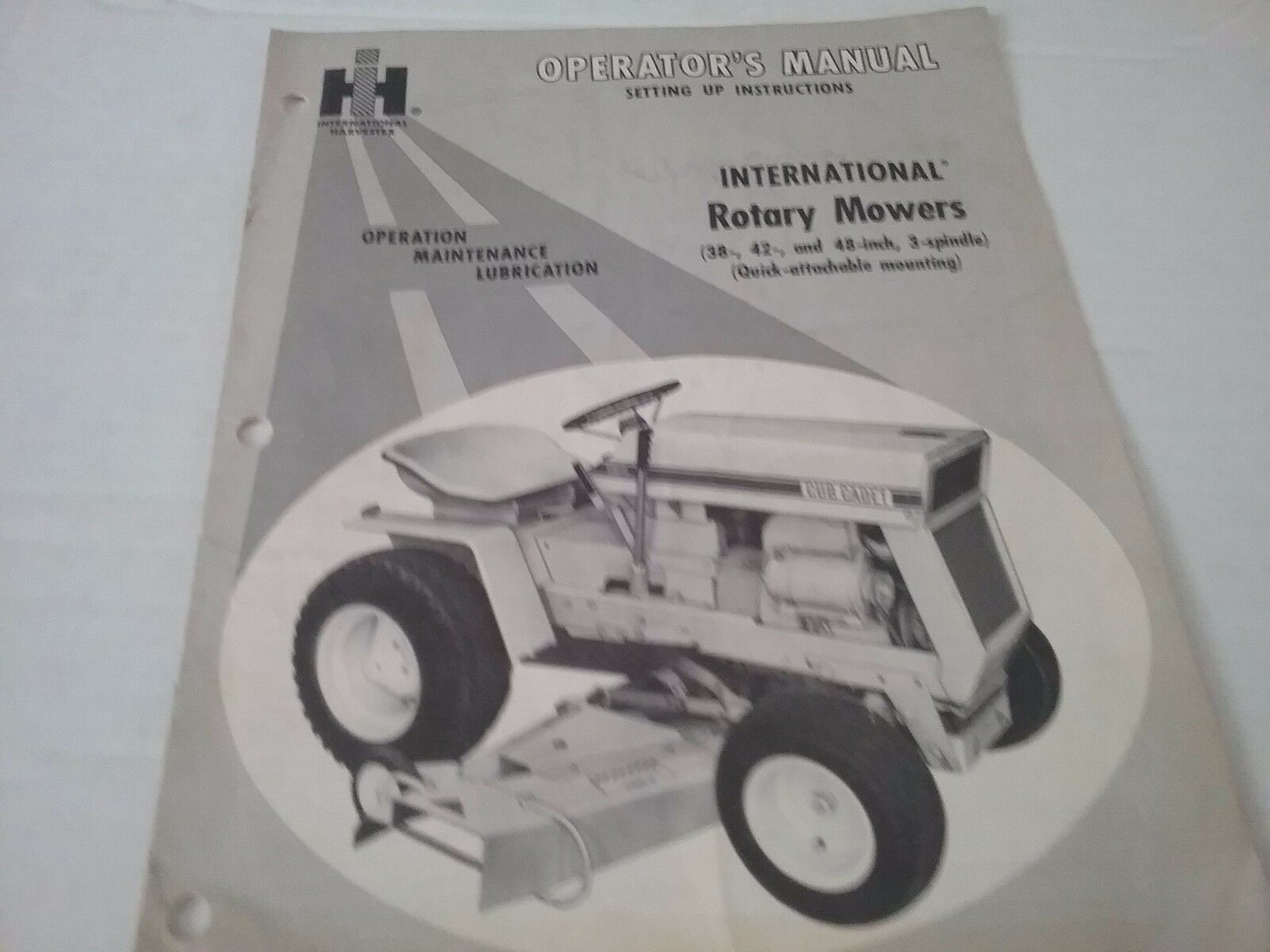 Original 1970 International Harvester Cub Cadet Rotary Mower Operators  Manual 1 of 1Only 1 available ...