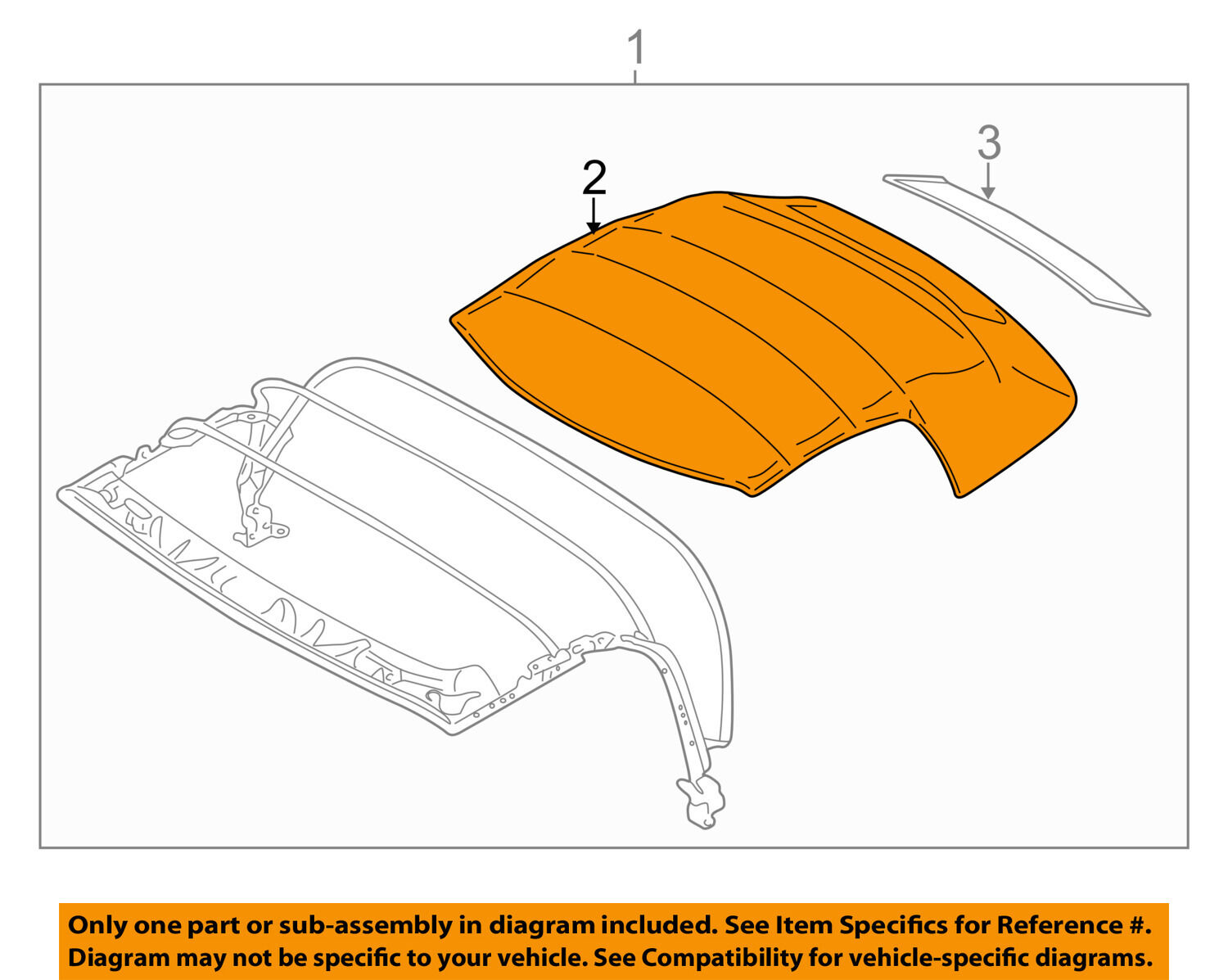 BMW OEM 96-02 Z3 Convertible Top-Cover 54318411121 1 of 2Only 1 available  BMW OEM 96-02 Z3 ...