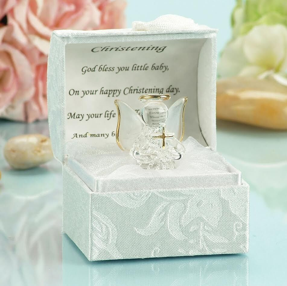 christening gift ideas for girls and boys baptism crystal angel with