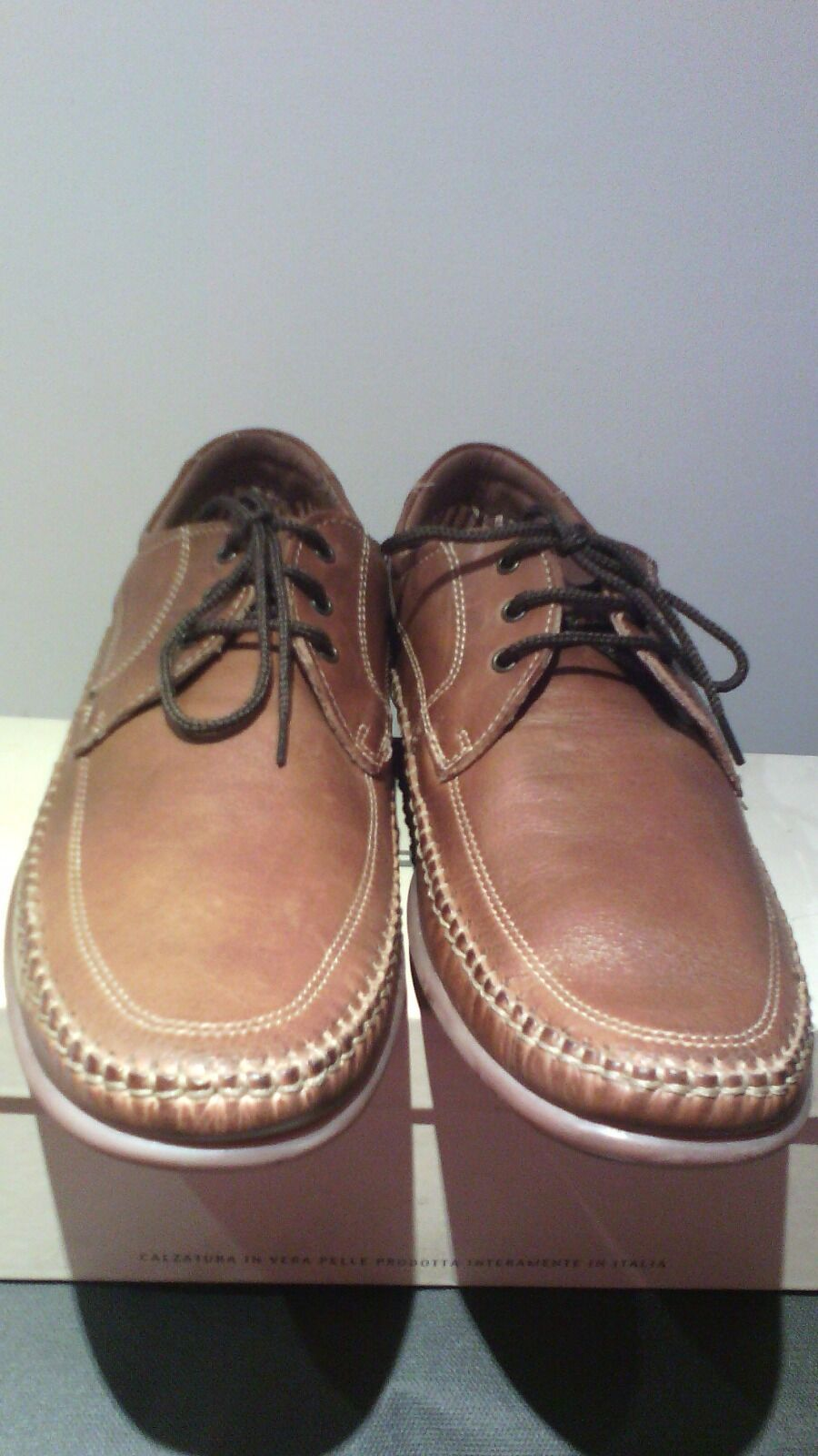 shoes brown genuine leather size 43 eu size 8 5