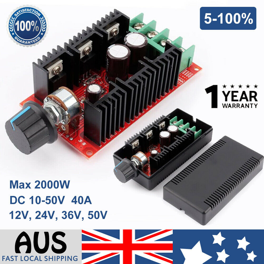 10 50v 40a dc motor speed switch control pwm hho rc for Speed control electric motor