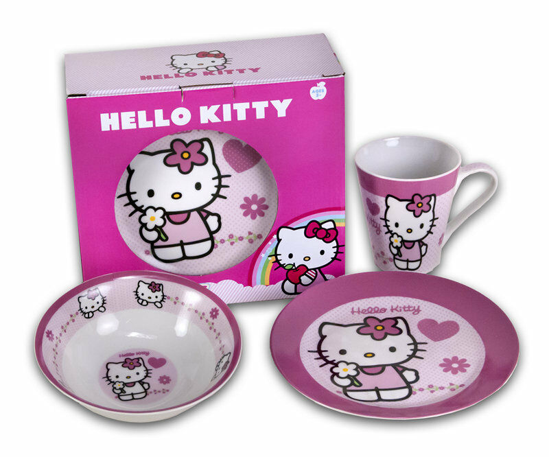 hello kitty kindergeschirr set 3 teilig fr hst cksset. Black Bedroom Furniture Sets. Home Design Ideas