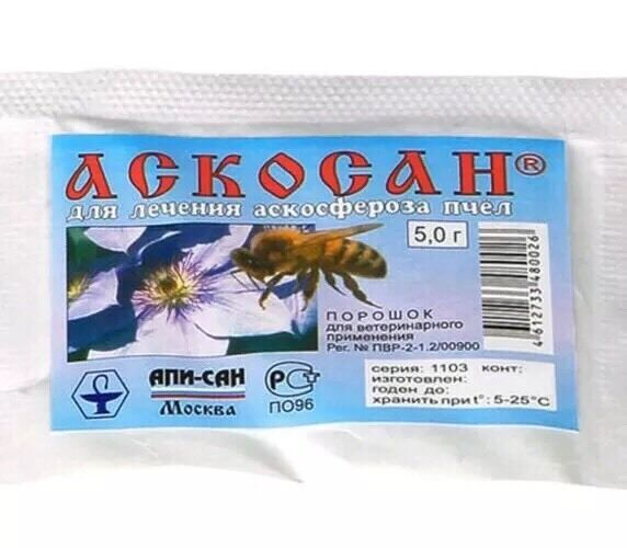 Beekeeping - Askosan is active against fungi of the genera ( 5 G - 10 doses).
