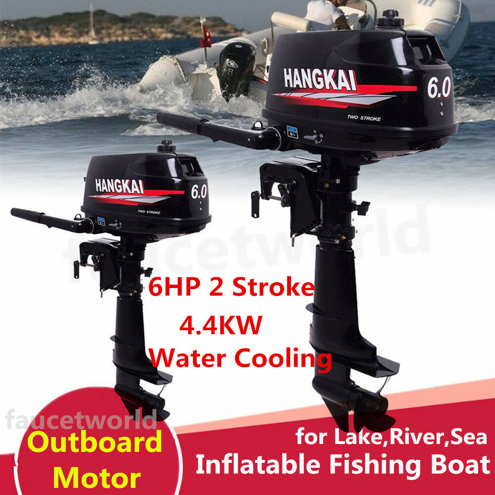 6HP Outboard Motor 2 Stroke Boat Engine Fishing Water Cooling CDI HANGKAI UPS 1 of 12 ...
