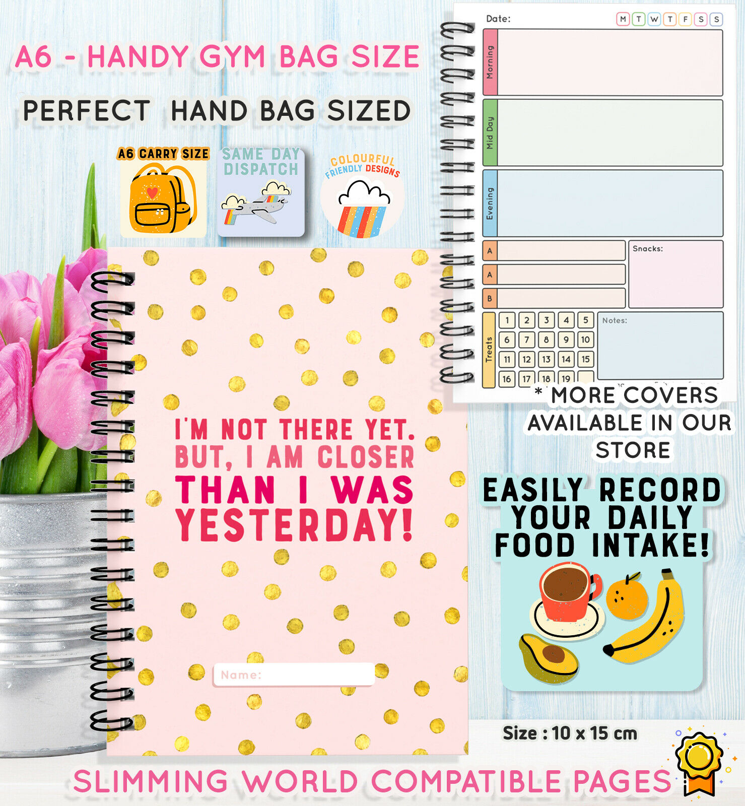 food diary weight loss buddy notebook tracker slimming extra
