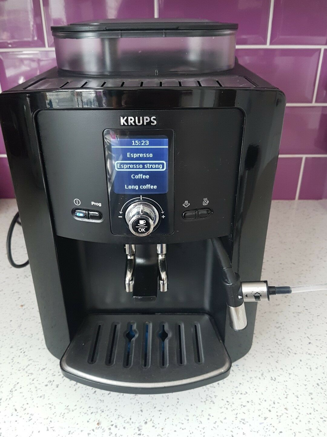 Krups Coffee Maker And Frother : Krups Espressaria EA8080 Bean to Cup Coffee Machine with auto milk frother .vgc ?171.69 ...