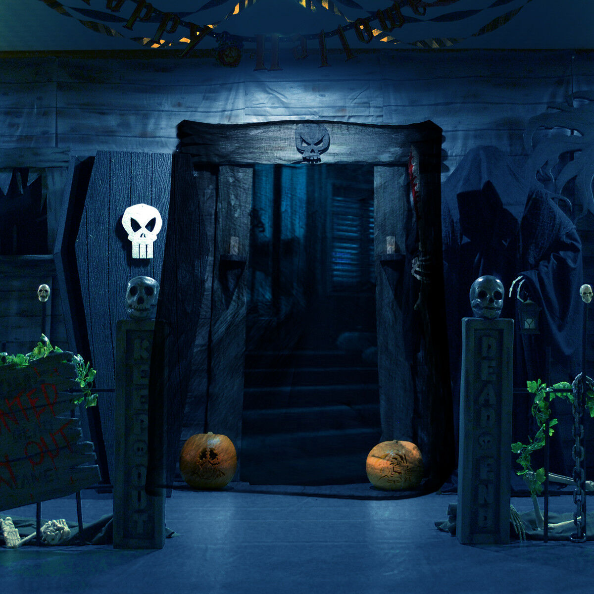 halloween haunted house prop party decoration super sized creepy cloth 8 yards 1 of 9free shipping