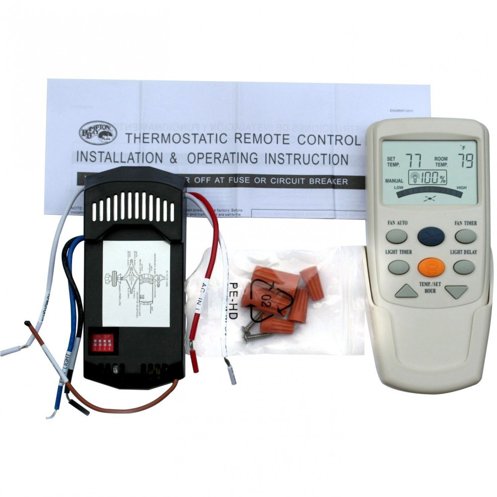 Universal Thermostatic Ceiling Fan And Light Remote Control Kit 1 Of 1only 4 Available