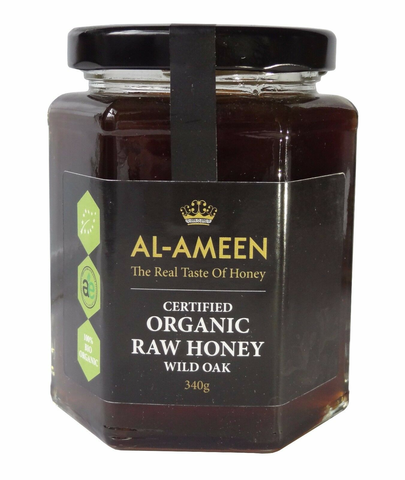 AL-AMEEN CERTIFIED ORGANIC WILD OAK HONEY 340g - REAL RAW honey
