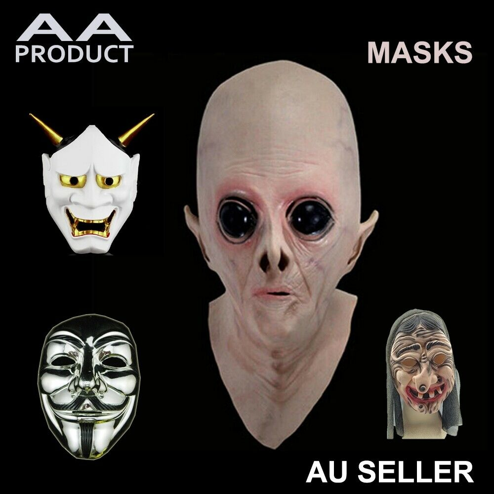 anonymous alien ufo devil demon monster scary face mask halloween