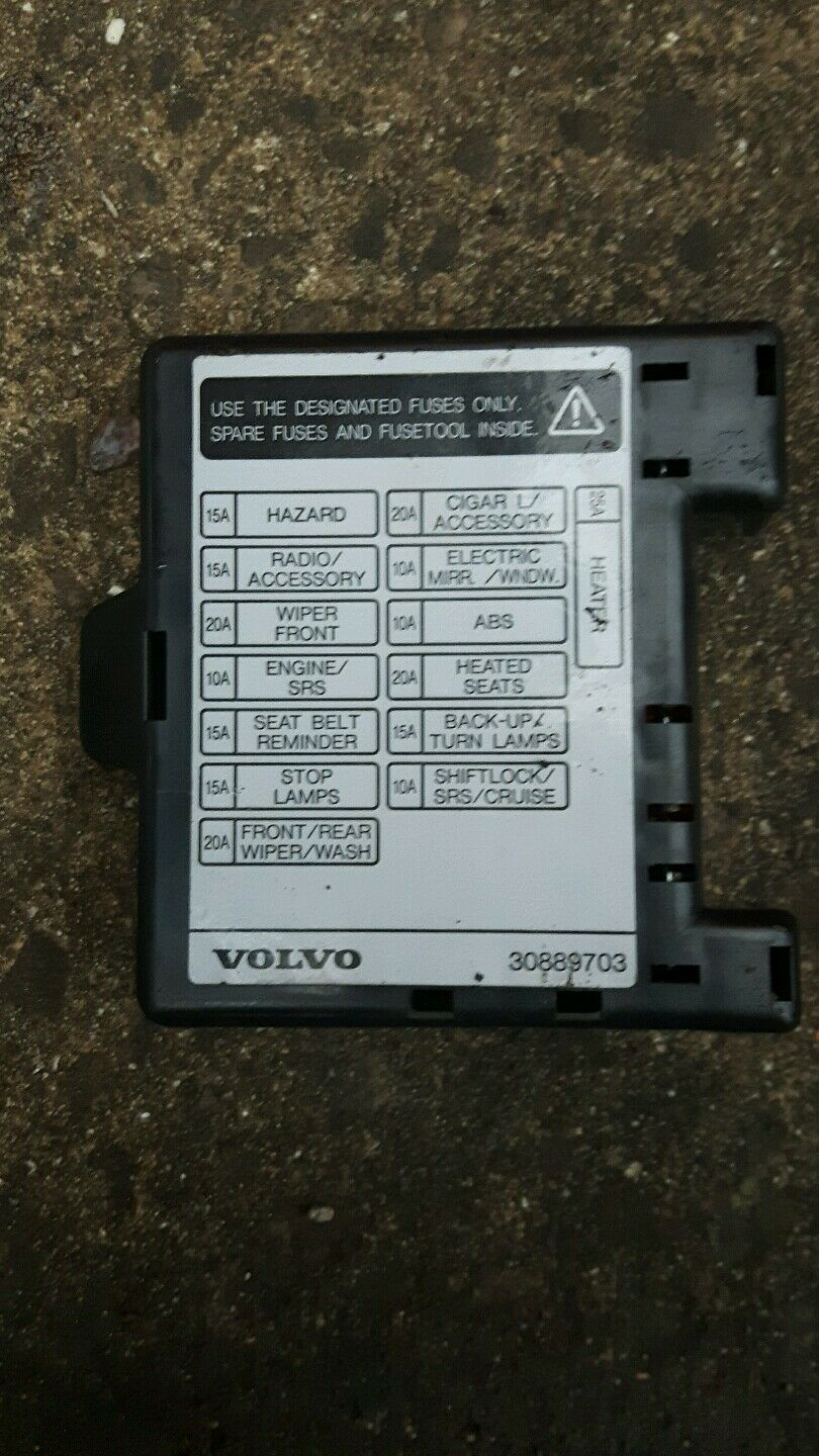 Volvo S40 Fuse Box Inside Worksheet And Wiring Diagram 2006 V40 Interior Cover 30889703 5 95 Picclick Uk Rh Co 2007