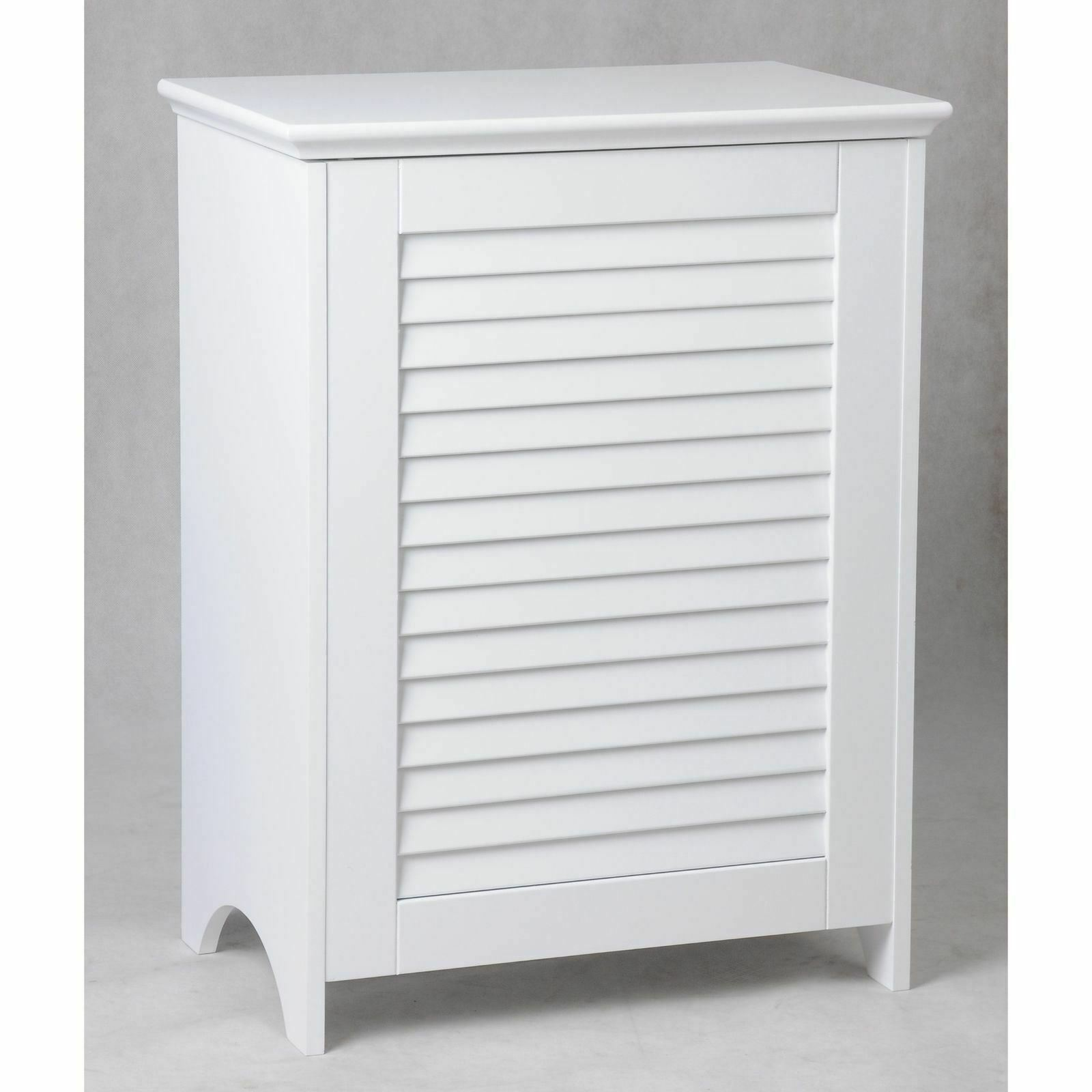 White Wooden Hamper Bathroom Laundry Storage Bin Clothes Basket Home Organizer 1 Of 4only 3 Available
