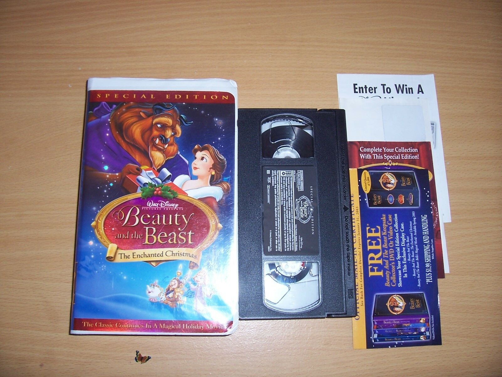 vhs beauty and the beast the enchanted christmas special