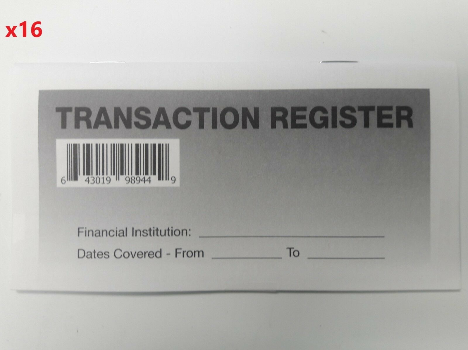 16 checkbook transaction registers 2018 20 calendar check book
