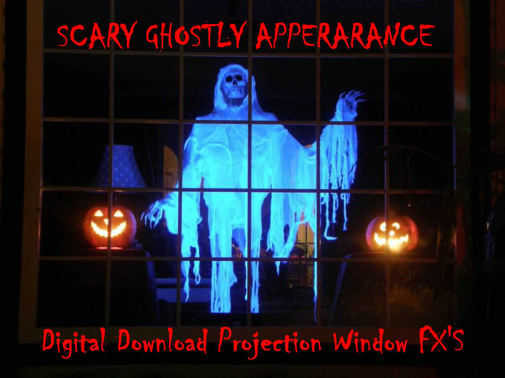 scary ghostly halloween window projector decoration hologram digital