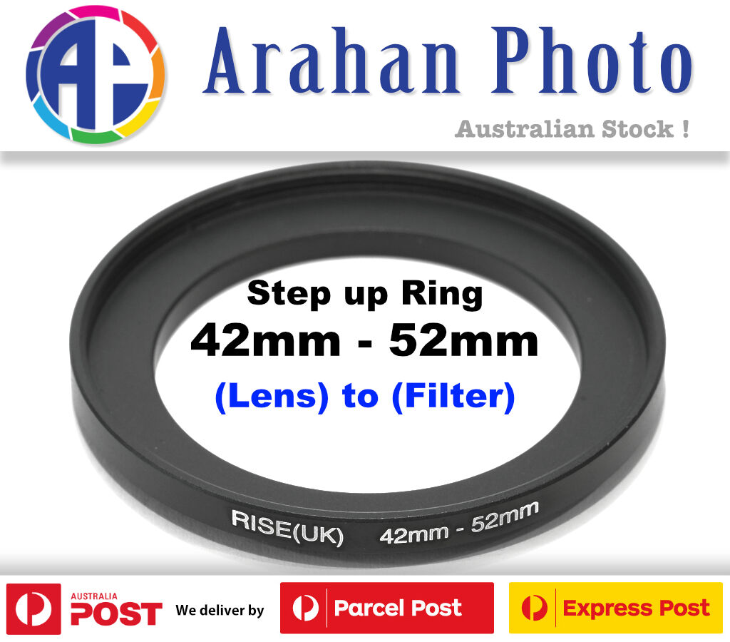 Step Up Adapter Ring Mm Lens To Mm Filter Size