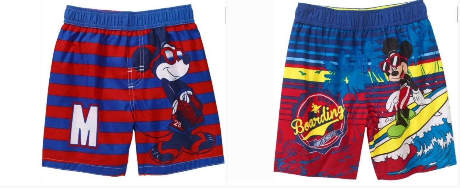Disney Mickey Mouse Toddler Boys Pick Graphic Swim Trunks Shorts Carters 3 Pieces Orange 1 Of 3free Shipping