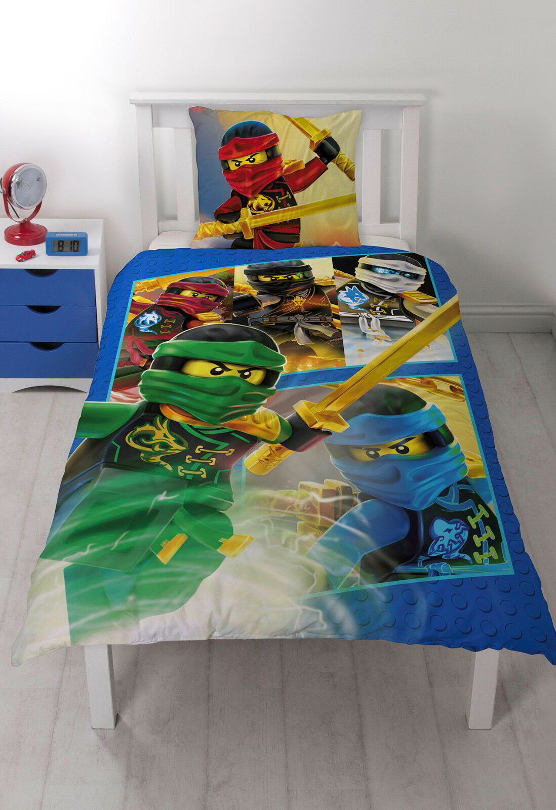 lego ninjago kinder bettw sche 2 tlg 80x80 135x200 100 baumwolle eur 32 99 picclick de. Black Bedroom Furniture Sets. Home Design Ideas