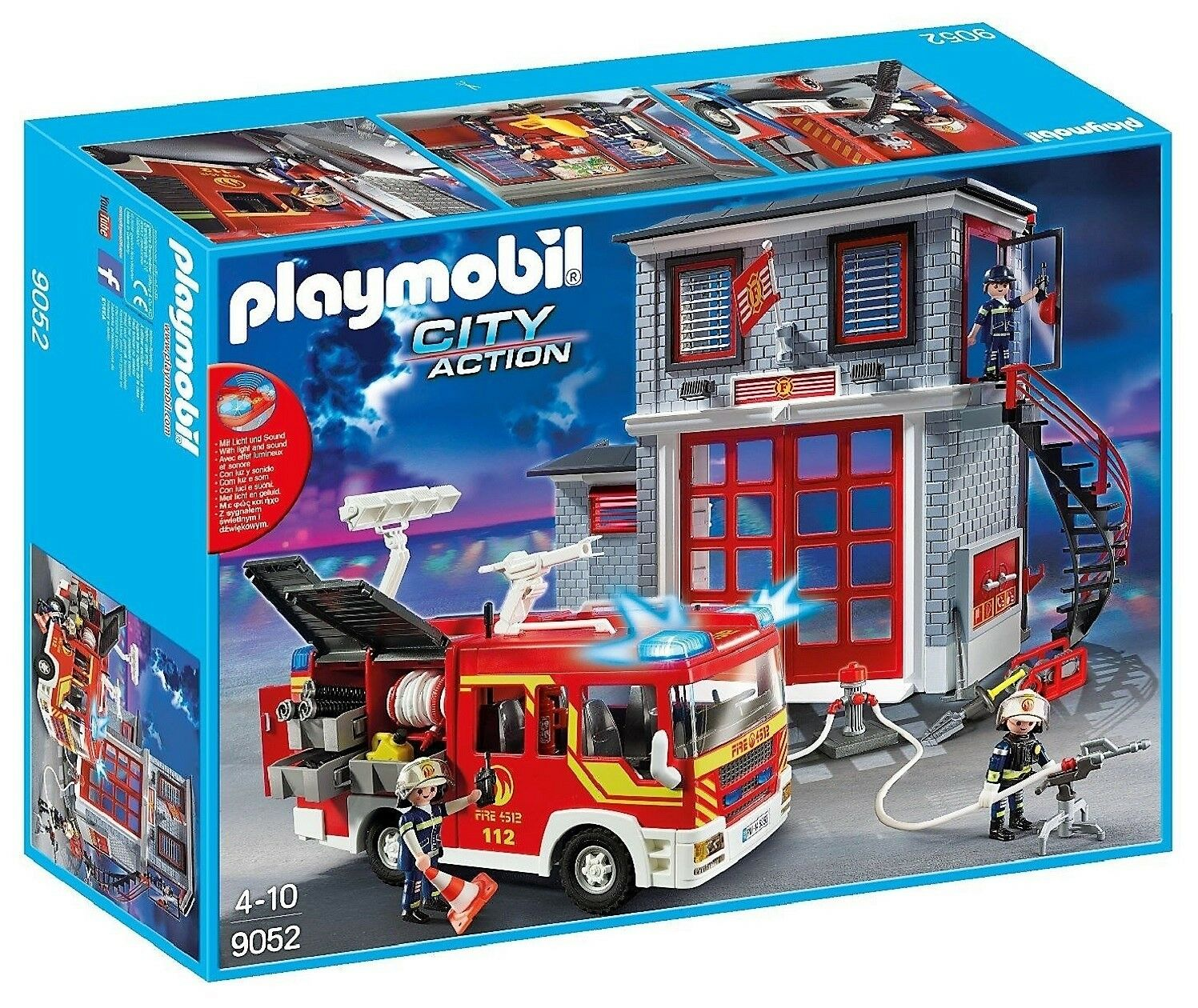 playmobil 9052 feuerwehr mega set city action neu ovp mit lkw haus pumpe eur 63 95. Black Bedroom Furniture Sets. Home Design Ideas