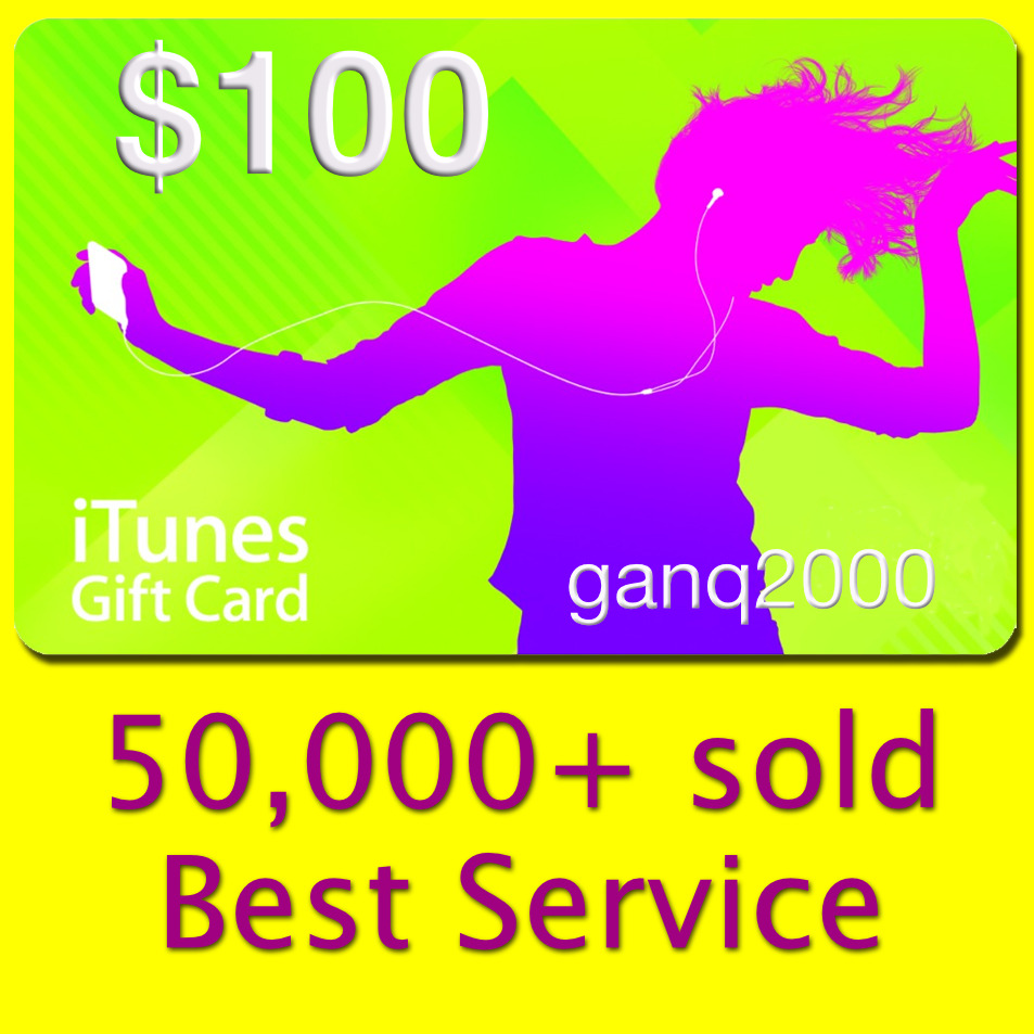 100 Apple Us Itunes Gift Card Voucher Certificate Fast Usa 50 Store 1 Of 1free Shipping See More