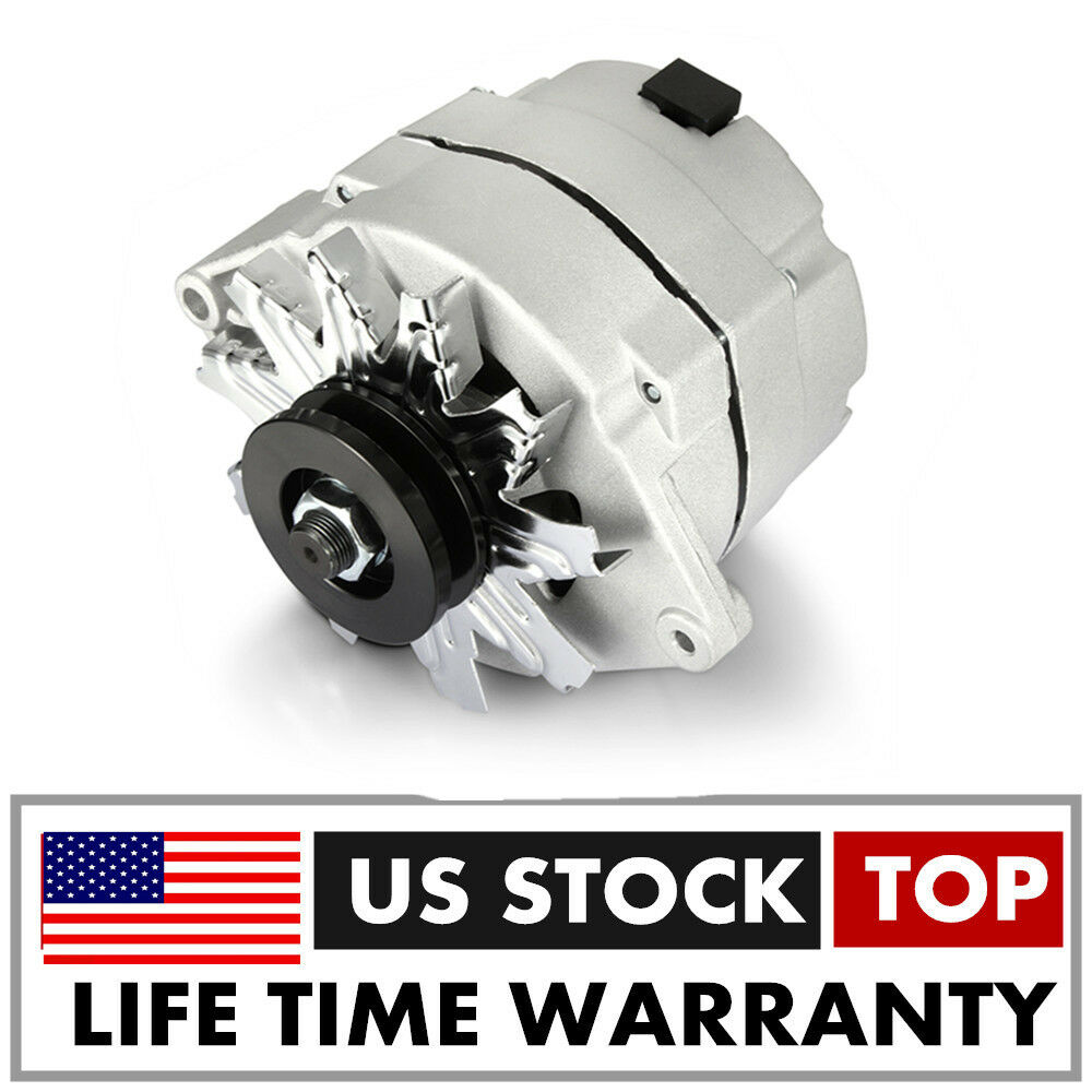 HIGH OUTPUT Alternator For GM 65-85 ONE WIRE 90AMPS 90A Idle Silver ...