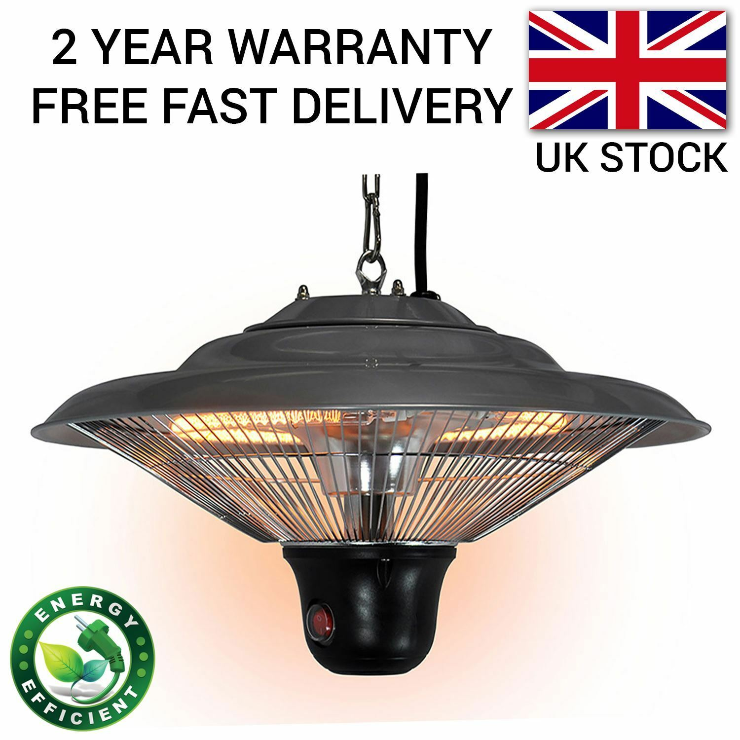 Patio Heater Outdoor Electric Garden Ceiling Hanging Infrared Halogen 1500W  1 Of 8FREE Shipping ...