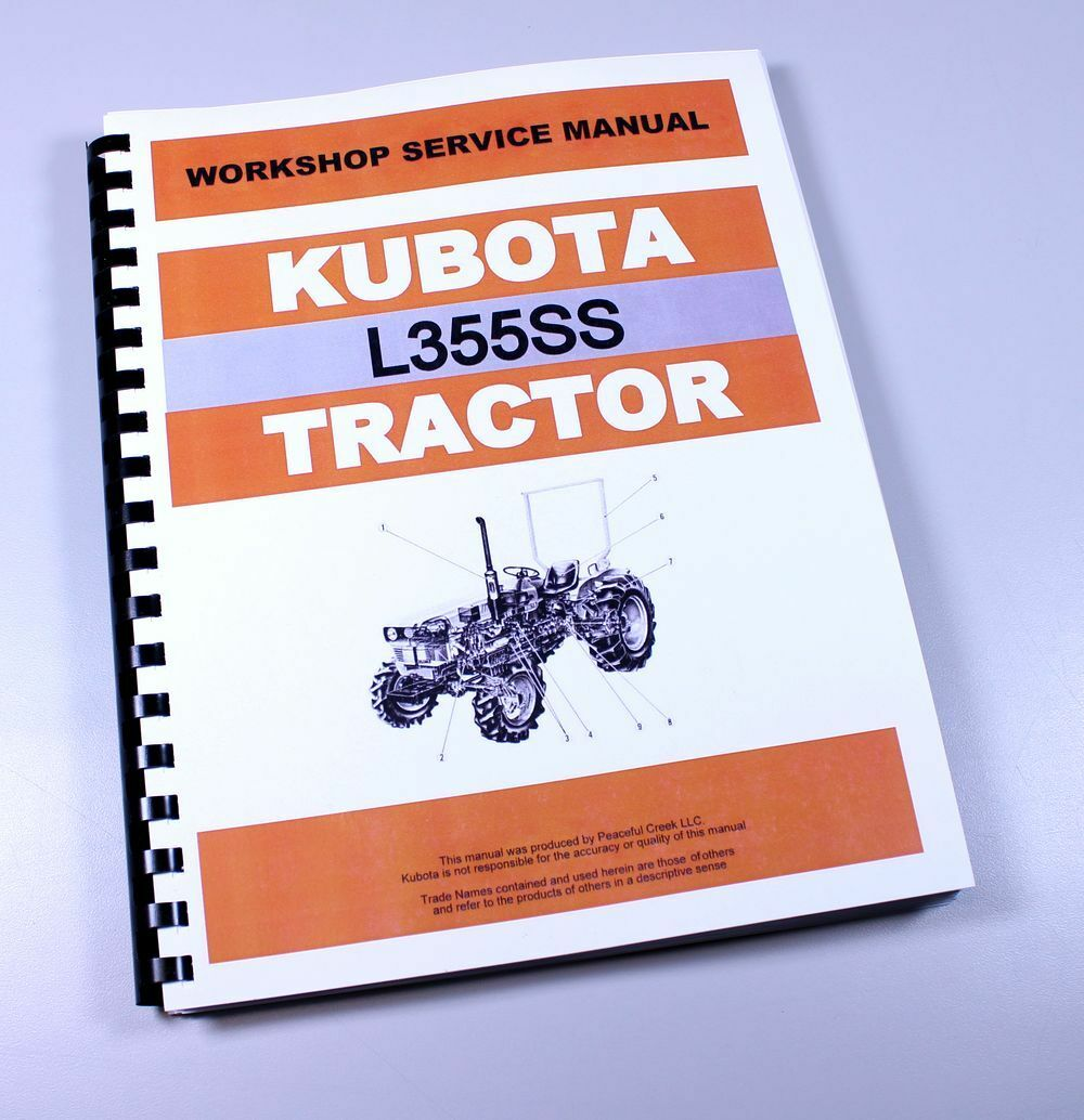 Kubota L355Ss Tractor Service Repair Manual Shop Book Overhaul 1 of 11FREE  Shipping ...