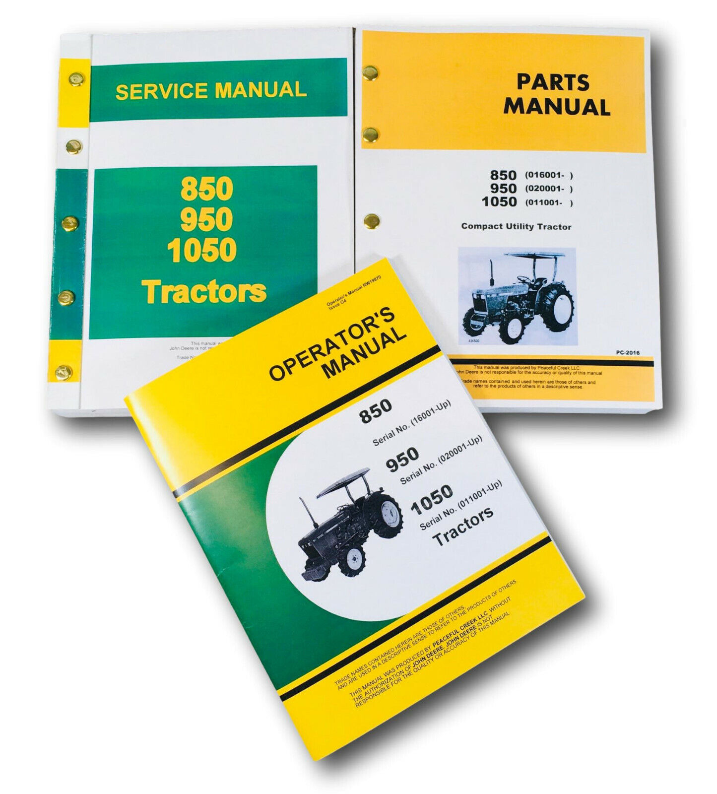 1 of 12FREE Shipping Service Manual For John Deere 1050 Tractor Parts  Operators Owners Repair Catalog