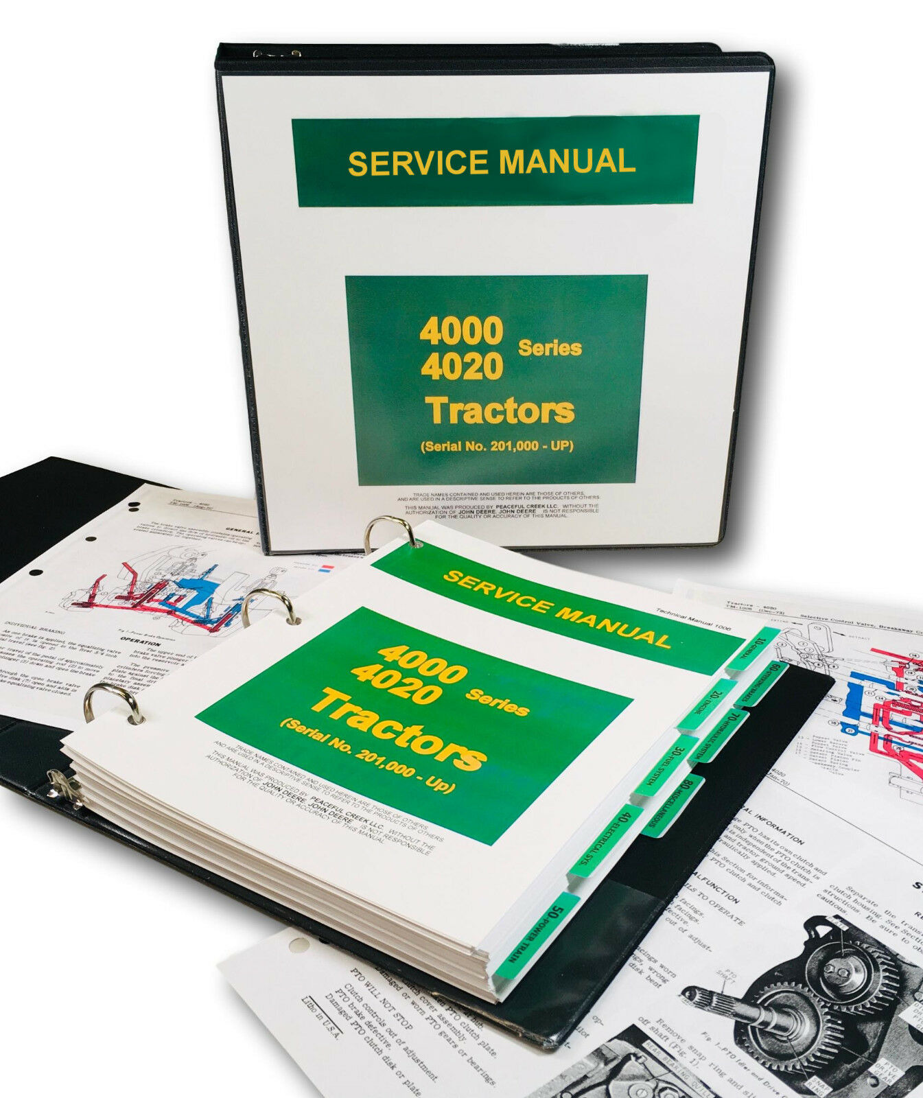 Service Manual For John Deere 4020 4000 Tractor Technical Shop Binder  Tm-1006 1 of 12FREE Shipping ...