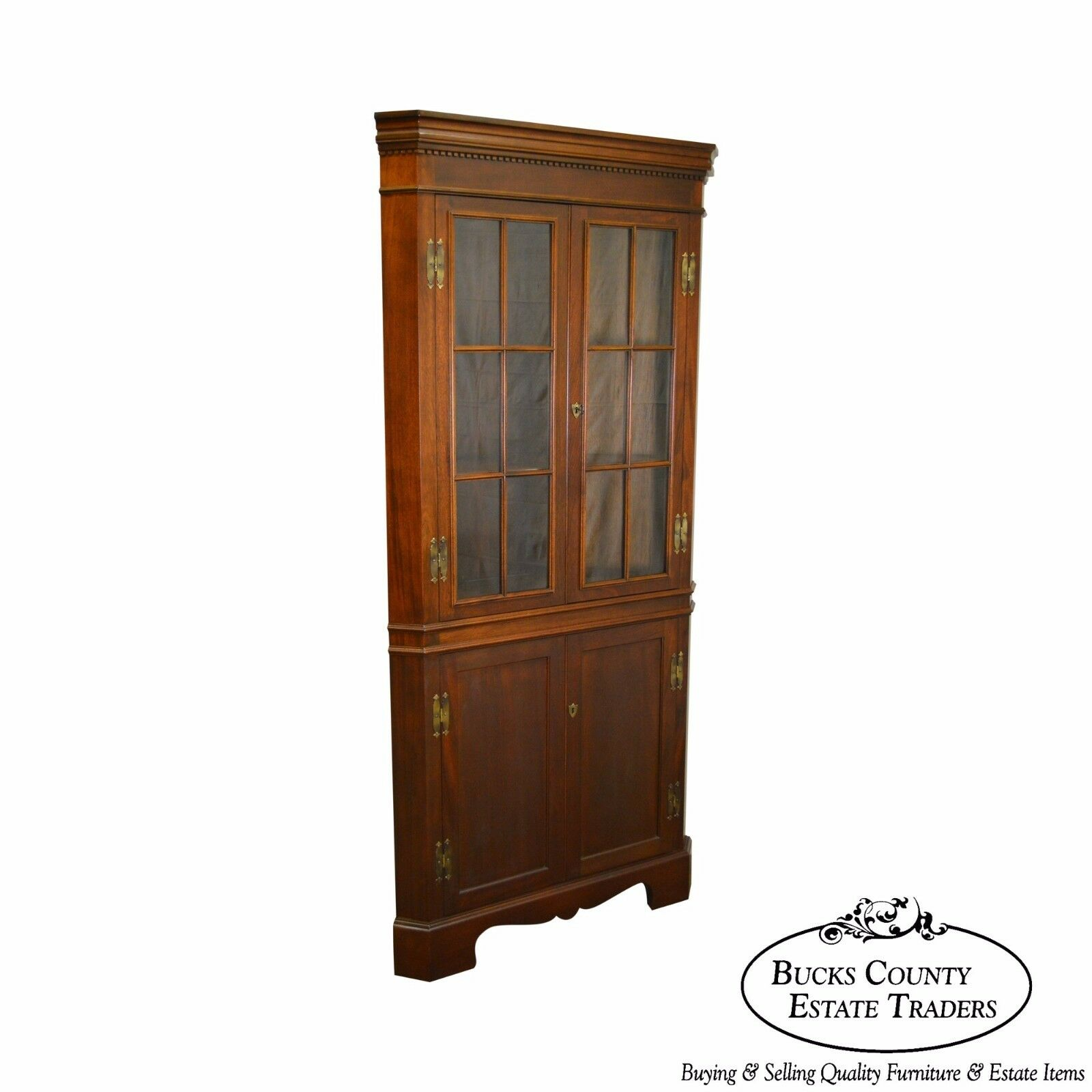 Craftique Solid Mahogany Chippendale Style Corner Cabinet 1 Of 12Only 1  Available ...