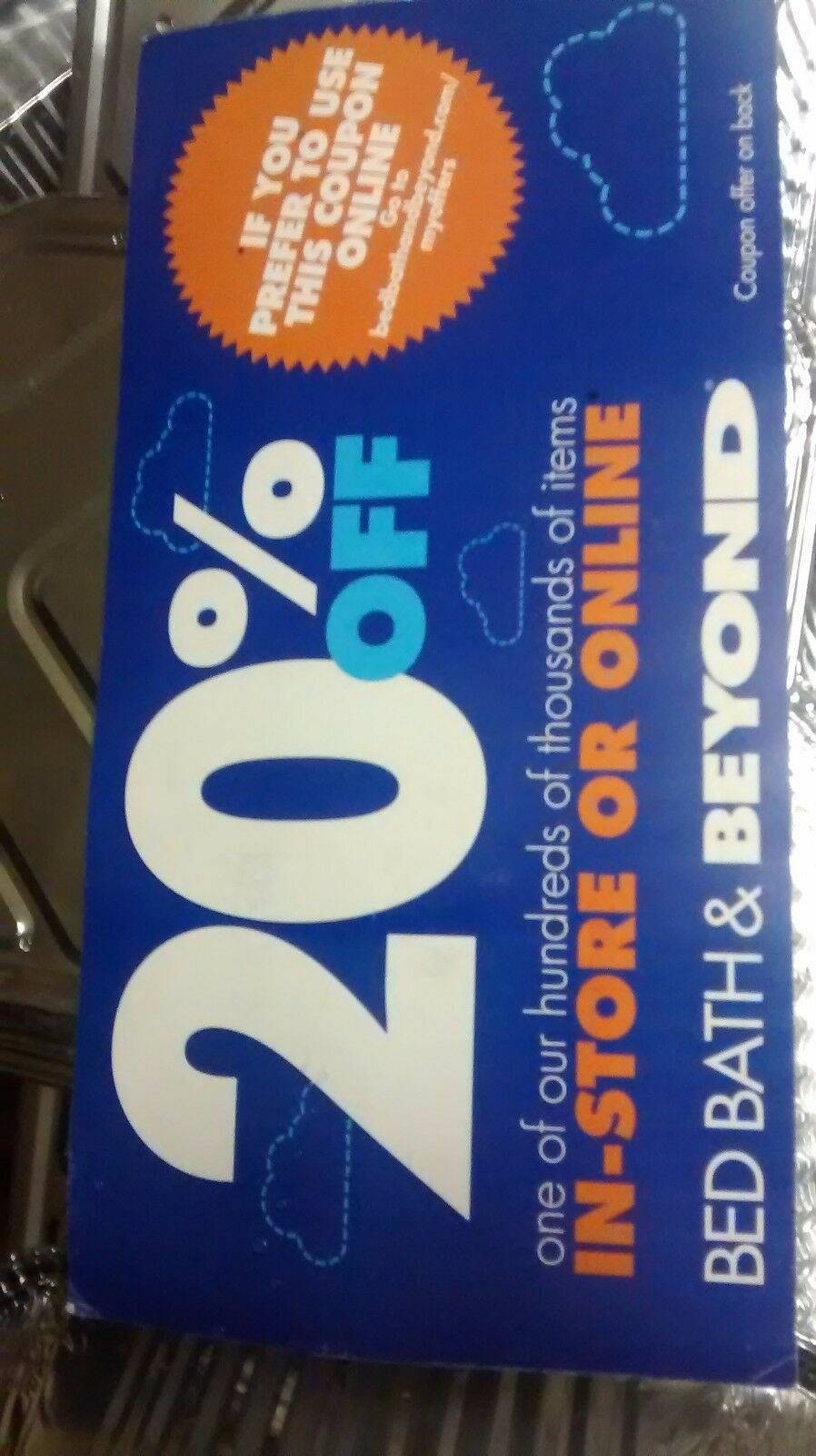 Off One Item Bed Bath And Beyond Online Details