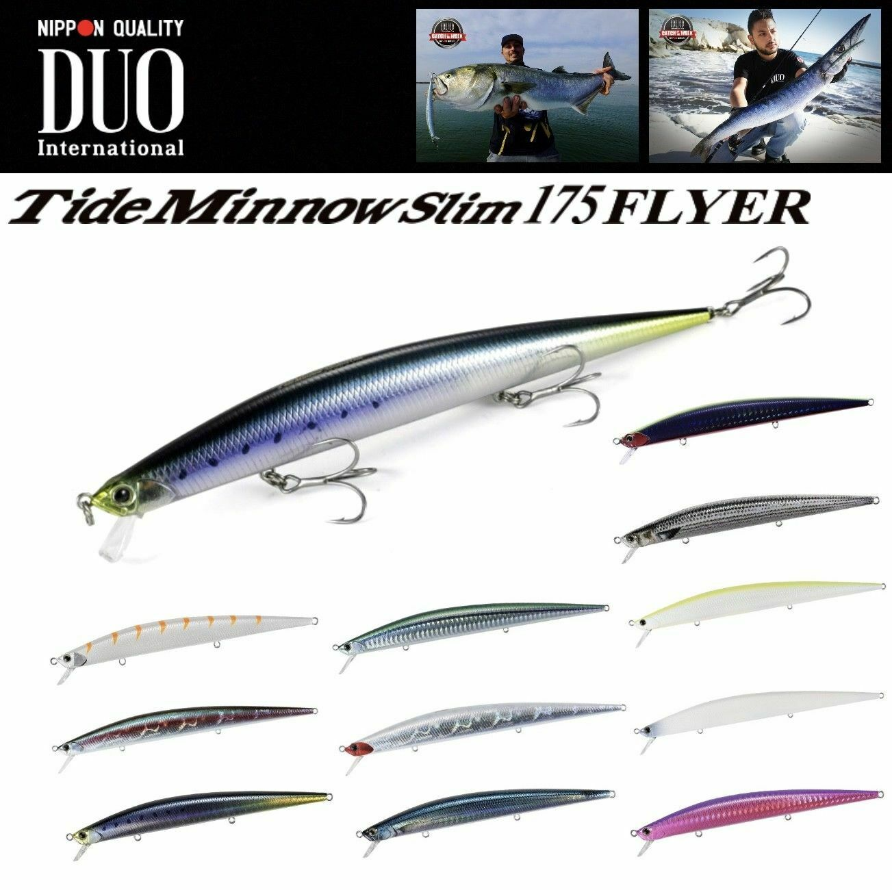 Duo ultimate long minnow lure advanced line tide minnow for Slime line fishing line