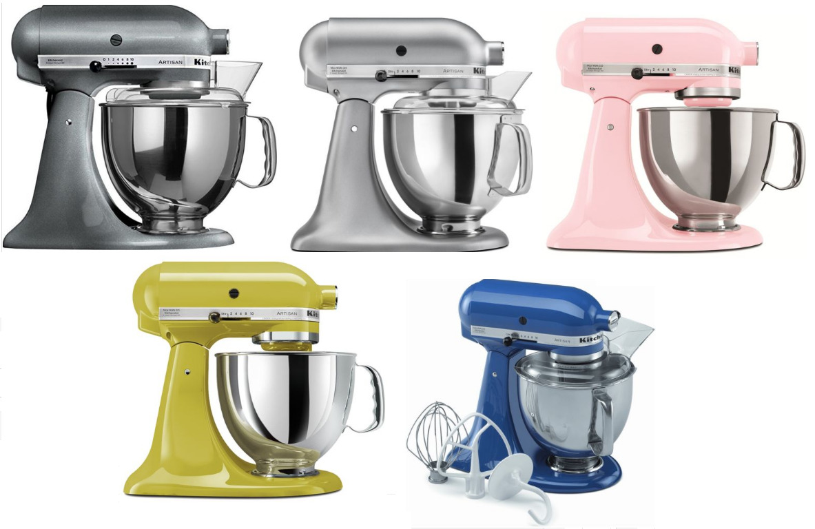 Kitchenaid Stand Mixer Tilt 5 Quart Ksm150ps Artisan Silver Or Pearl Metallic