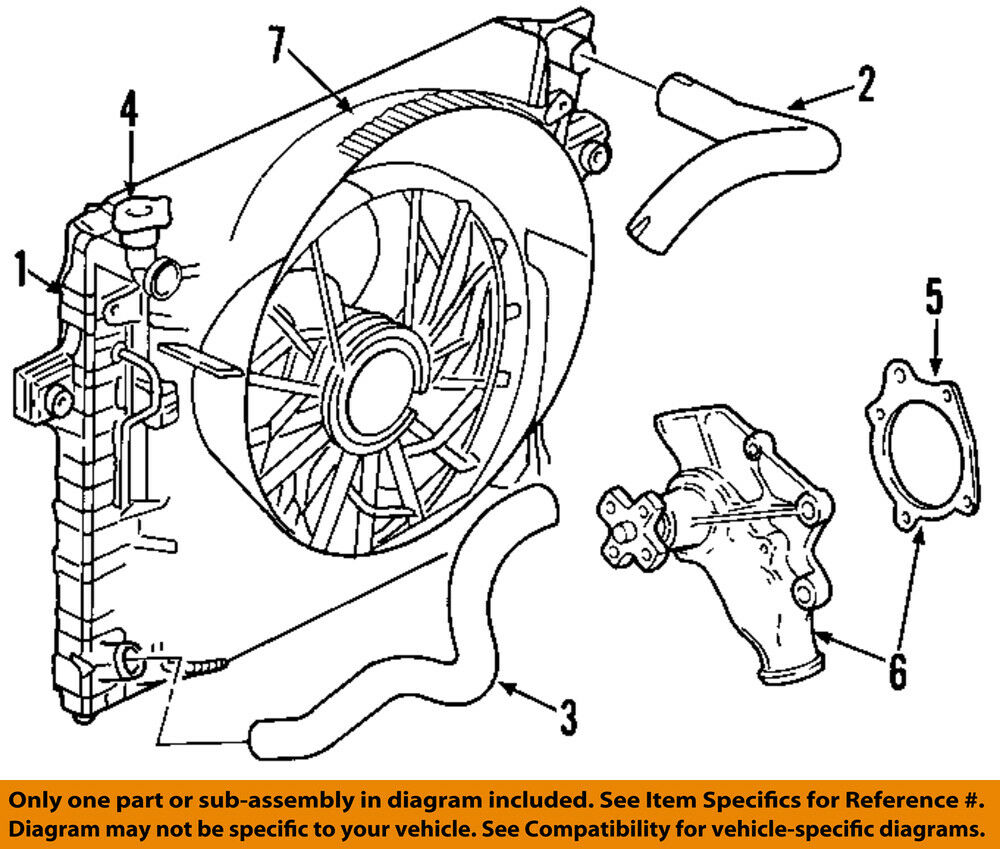 Jeep CHRYSLER OEM 00-06 Wrangler-Engine Water Pump 68382492AA 1 of 1Only 1  available See More