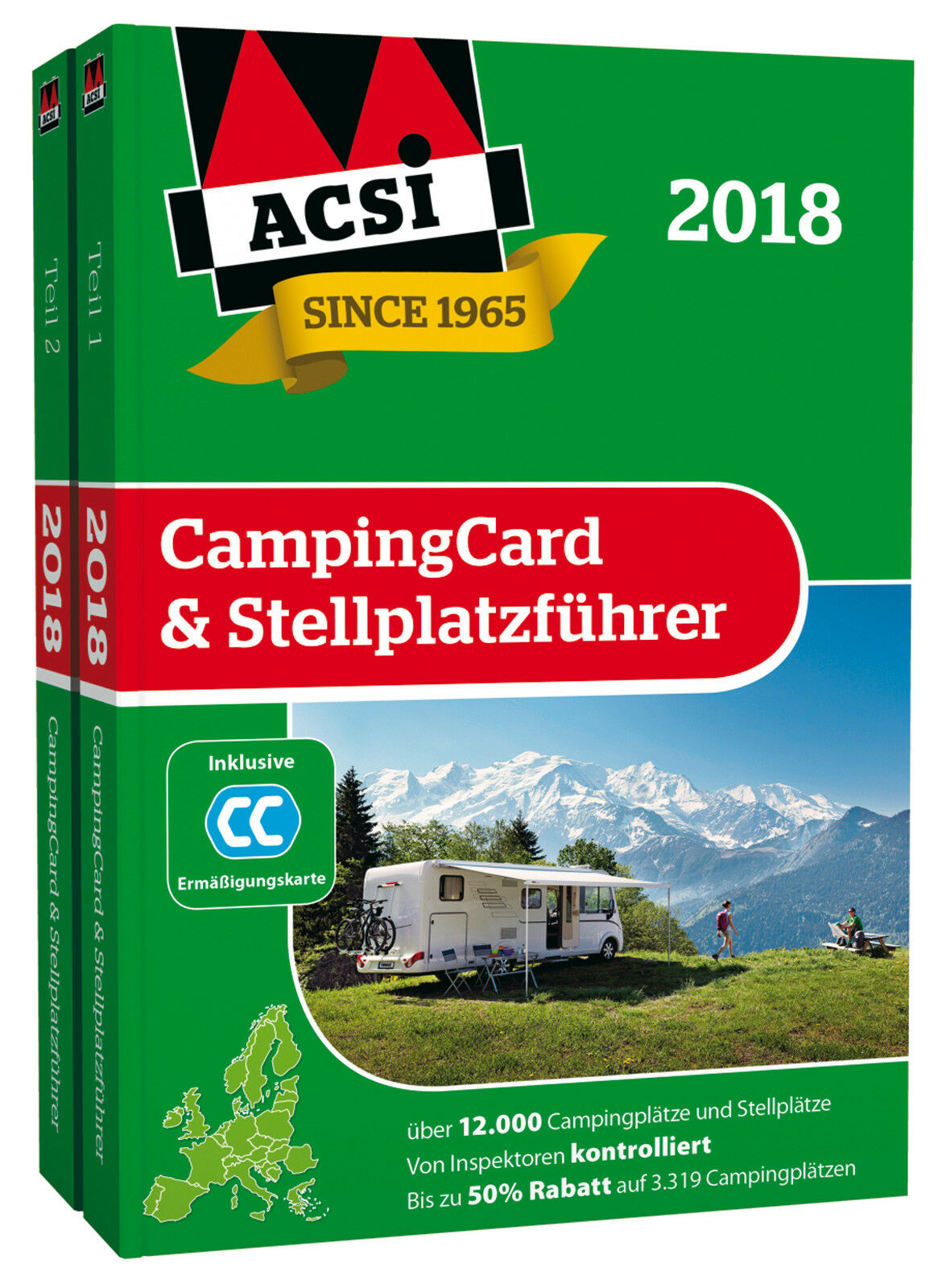 acsi campingcard stellplatzf hrer 2018 inklusive. Black Bedroom Furniture Sets. Home Design Ideas
