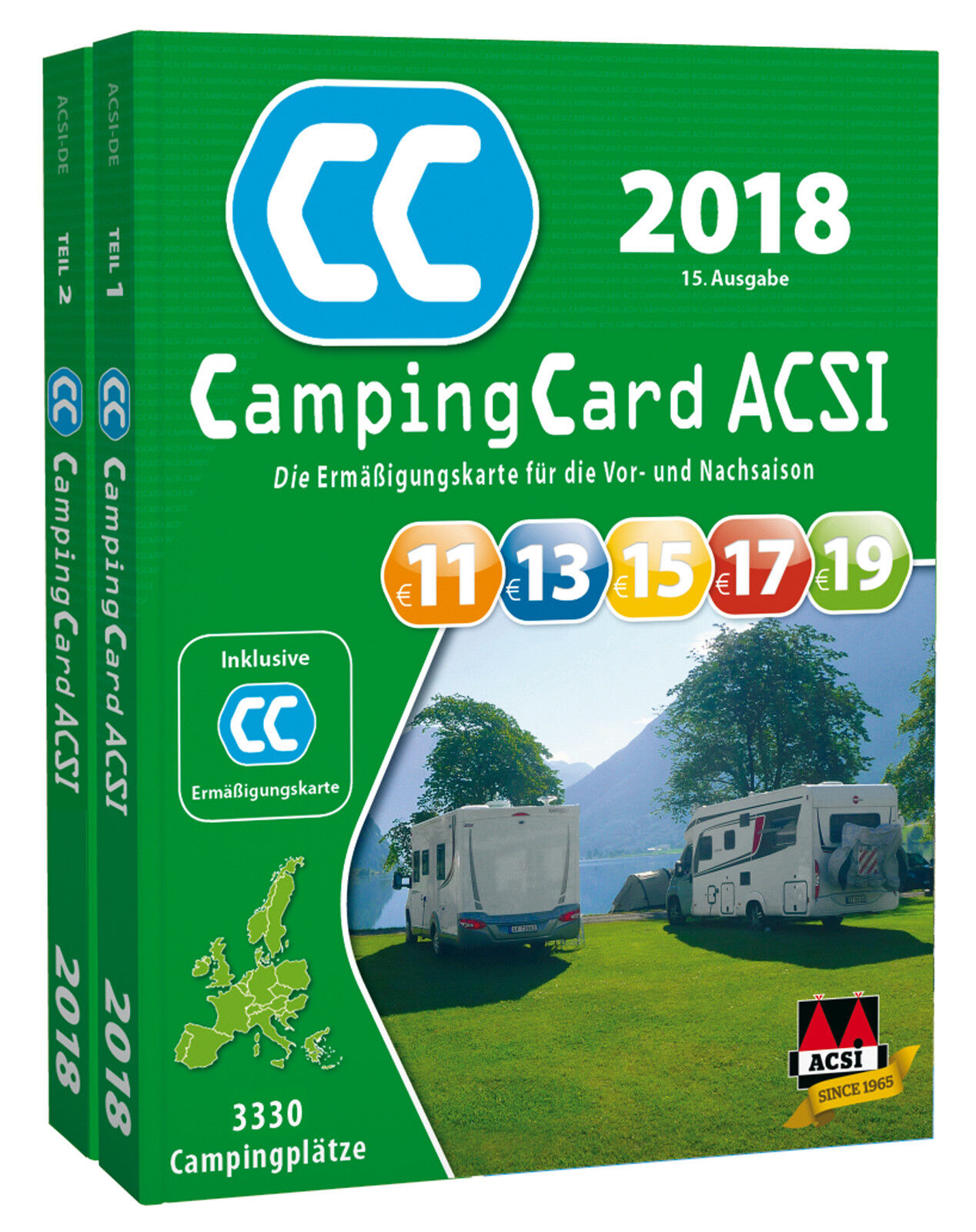 acsi campingcard 2018 campingf hrer inkl erm igungskarte. Black Bedroom Furniture Sets. Home Design Ideas