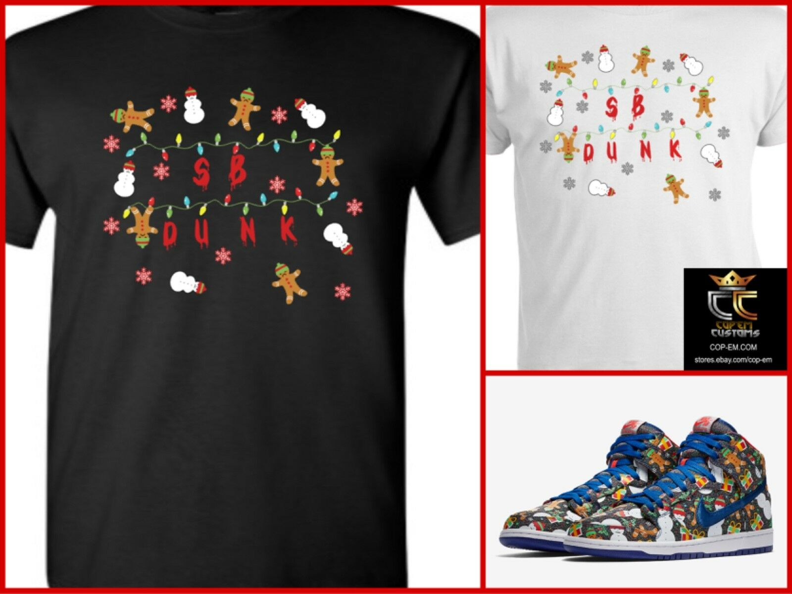 EXCLUSIVE TEE/T-SHIRT TO match Concepts x NIKE SB Dunk Ugly ...
